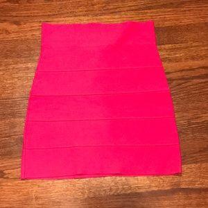 BCBGMaxAzria Skirts - BCBG maxazria hot pink bandage skirt